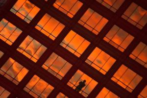 Creative - Kathy Urbach Office Building Sunset - Third Place