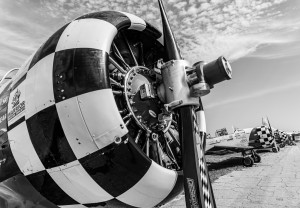 WWII T-6 Texan Aircraft - 2nd Place - Monochrome - Laura Kelly