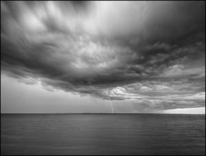 MONOCHROME - 1st Place Wayne Bennett Lake Monroe Lightning Strike