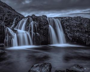 MONOCHROME - 2nd Place Ruben Rodriguez Iceland Waterfall Cascade