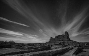 MONOCHROME - 3rd Place Kathy Bargar Evening at Abo Ruins
